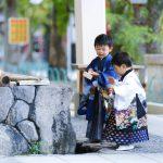 湊川神社で七五三参り。そして木枯し1号に遭遇