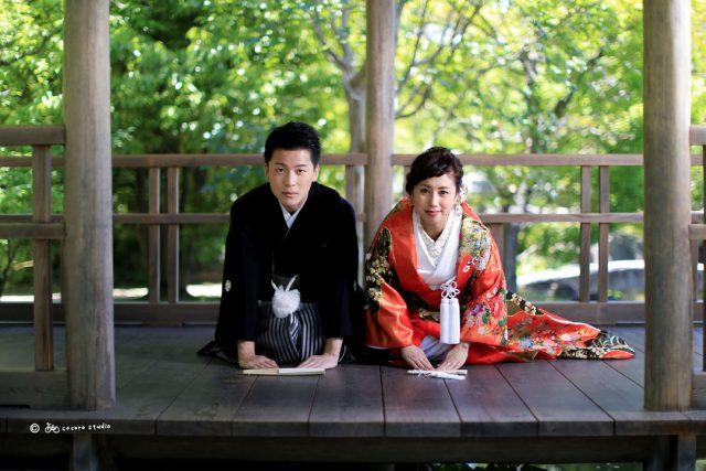 婚礼前撮り撮影 姫路市考古園 撮影はココロスタジオ