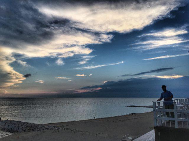 林崎松江海岸 夕暮れ時