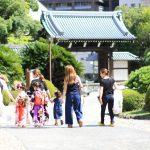 神戸市中央区 相楽園で七五三ロケ