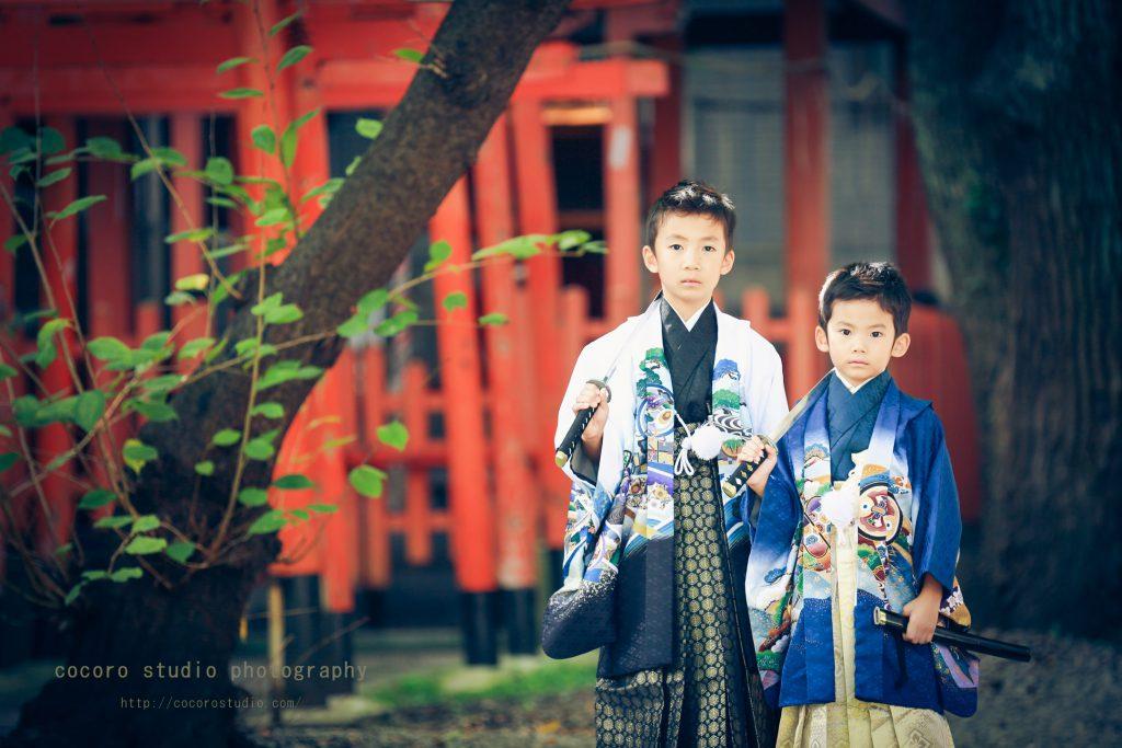 神戸市中央区 小野八幡神社 七五三撮影 ココロスタジオ