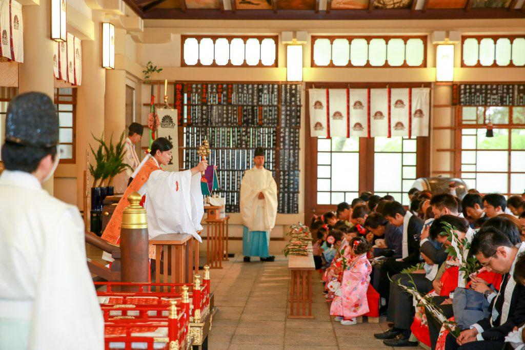 2016年10月の湊川神社 ご祈祷