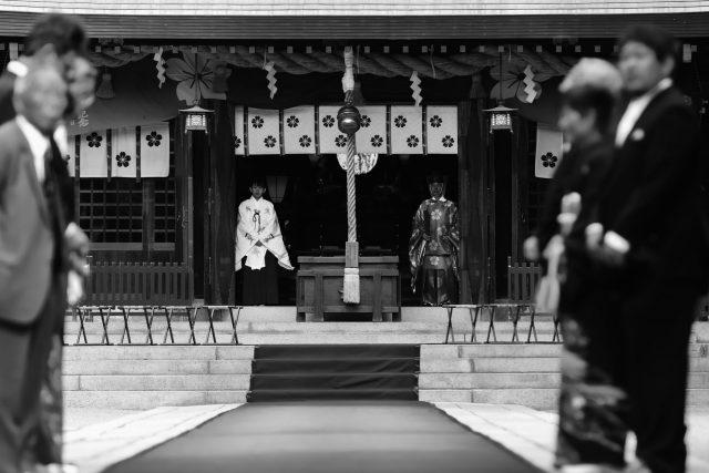 神社 参進の儀 婚礼撮影はココロスタジオ