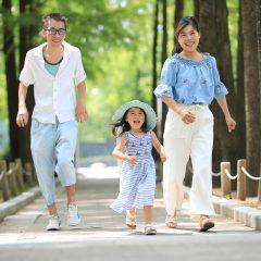 誕生撮影は三宮のココロスタジオ 神戸市中央区、東遊園地