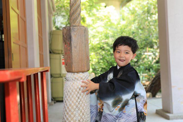 神戸で七五三撮影。5歳男児衣装レンタル|神戸市中央区