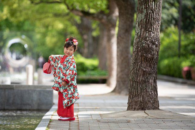 七五三撮影は神戸三宮のココロスタジオ。東遊園地