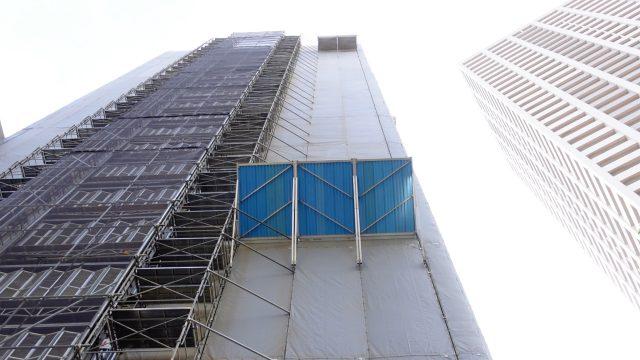 小野八幡神社 マンション建設中